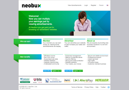 NeoBuxHomepage